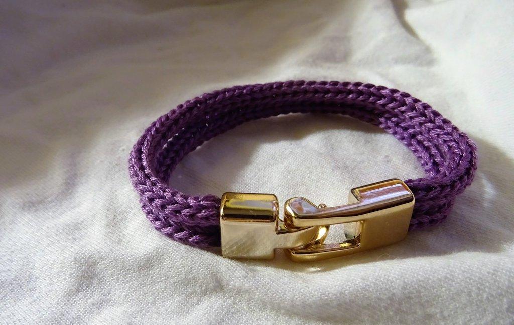 Bracciale doppio tubolare viola