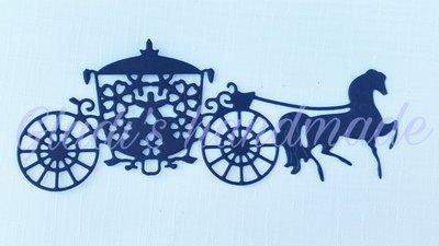 10 pezzi:Carrozza con cavalli in cartoncino