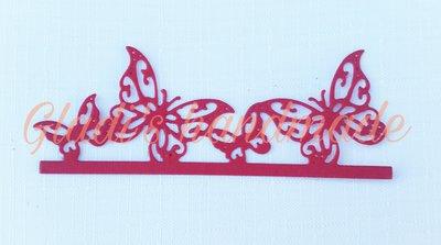 40 bordini di farfalle in cartoncino