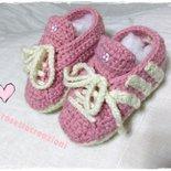 scarpette ginnastica  neonato fatte a mano