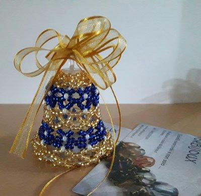 campanella blu oro