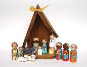 Presepe per Bambini Sacra Famiglia Natività Decorazione di Natale Regalo di Natale