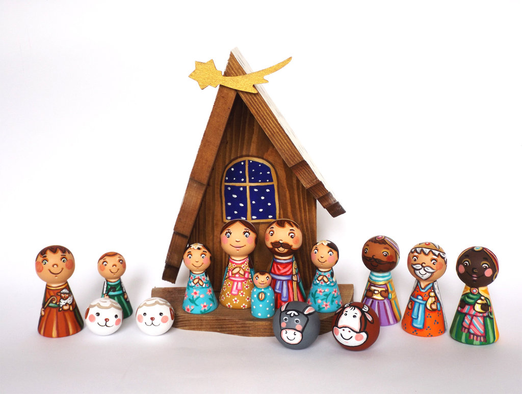 Natività Presepe per Bambini Sacra Famiglia Decorazione di Natale Regalo di Natale