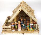 Presepe Sacra Famiglia Angelo Natività Decorazione di Natale Idea regalo di Natale