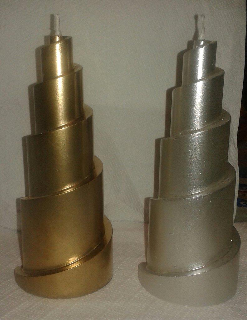 Candele natalizie oro e argento