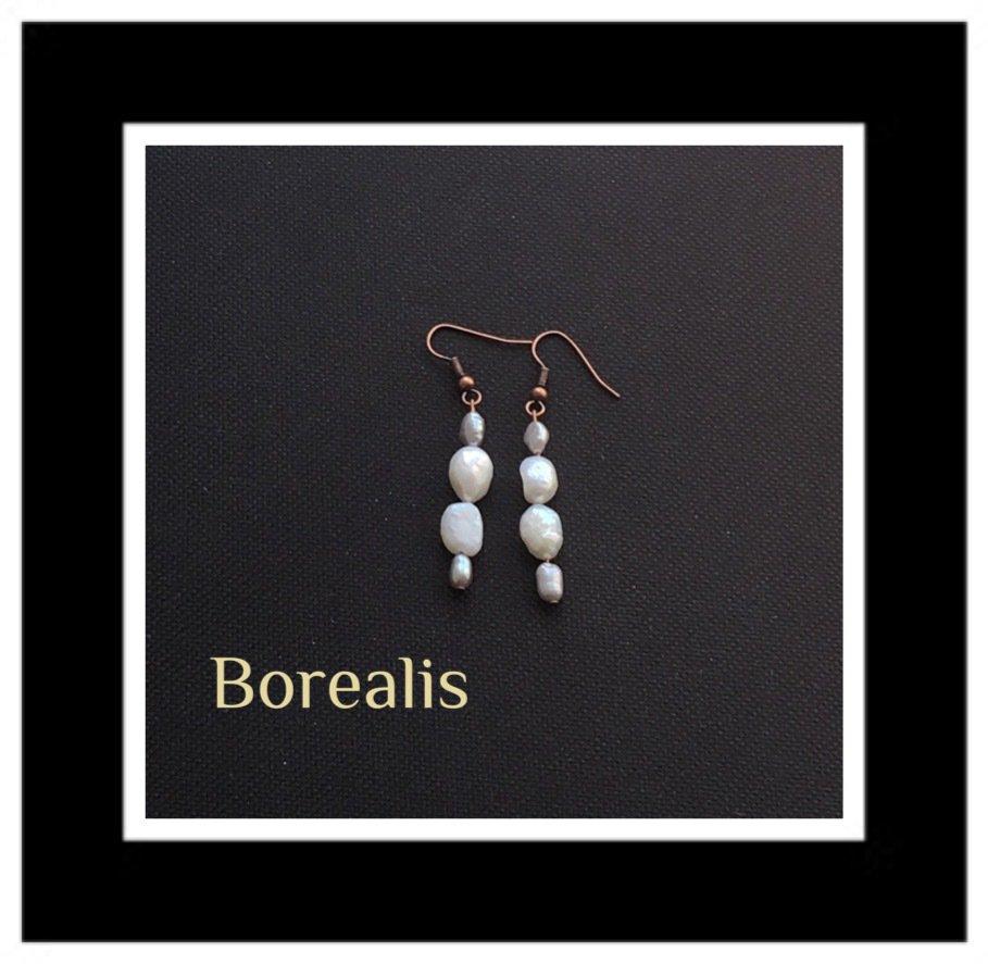 Orecchini in perle d'acqua