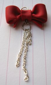 Red Ribbon Charm
