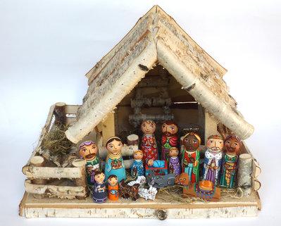 Presepe Decorazione di Natale Sacra Famiglia Angelo Natività Idea regalo di Natale