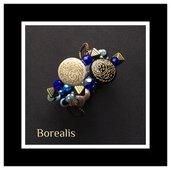 Bracciale armonico in perle di Boemia, cristalli e mezzi cristalli