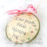 """Medaglione """"il mio primo Natale"""" per bimba personalizzato"""