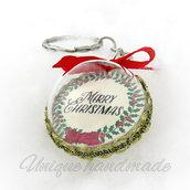 "Portachiavi natalizio ""Merry Christmas"""