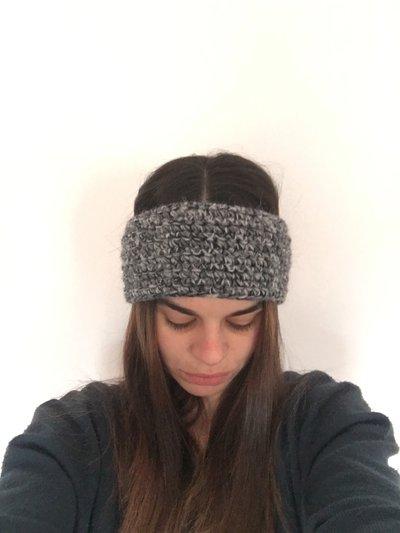 paraorecchie di lana fascia capelli donna inverno