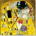 OROLOGIO da parete 30 x 30 cm - Il Bacio di Klimt