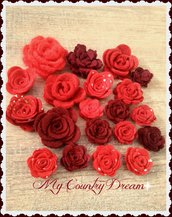 Set di rose rosse