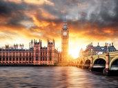 PANNELLO  80 x 100 cm - Londra al tramonto