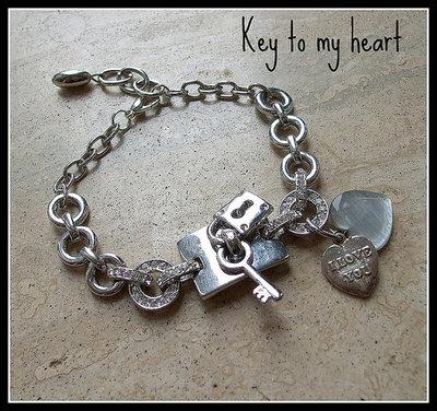 Bracciale ''Chiave del mio cuore''