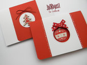 Card Natalizia con deocorazioni