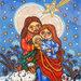 Sacra Famiglia Addobbi di Natale Regalo di Natale Scatola Legno Feste natalizie Decorazione di Natale