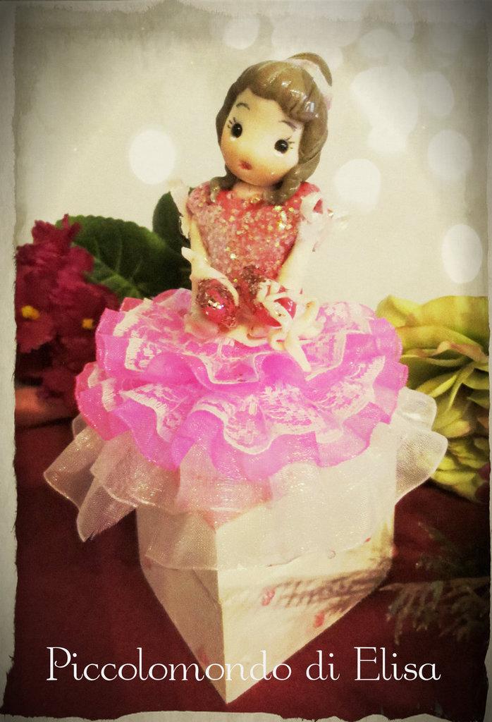"""cofanetto """"ballerina"""" portagioie"""