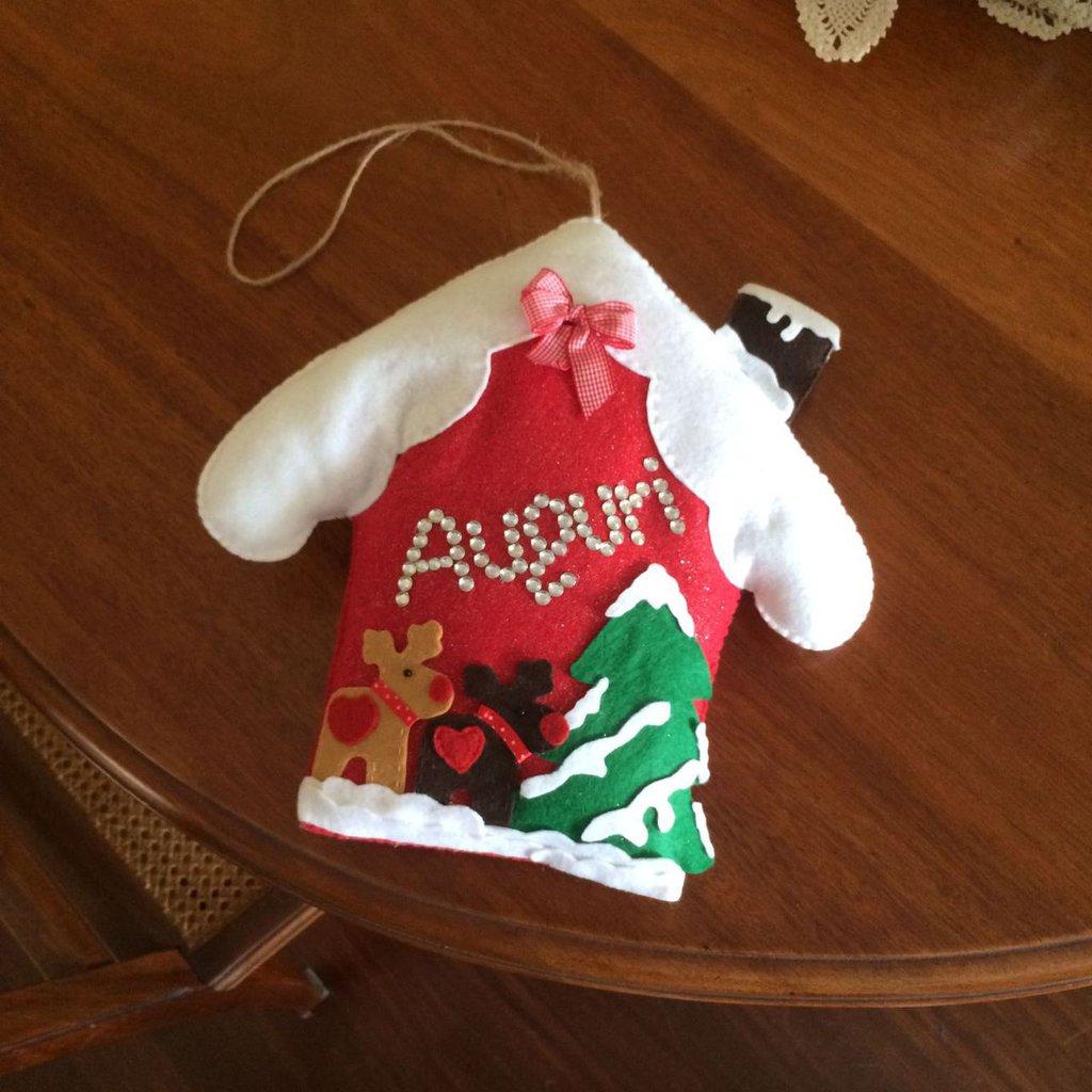 Fuori porta casetta natalizio