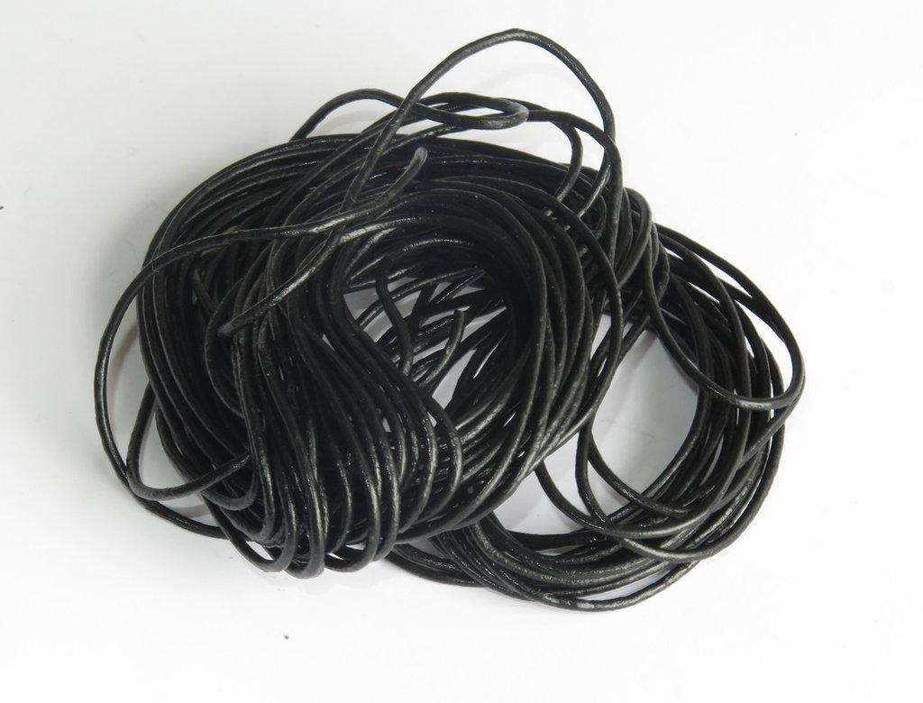 5 m Cordino in pelle nera    FCO2T
