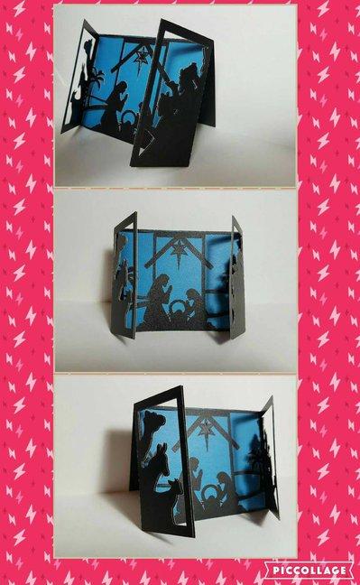 Nativity triptych card