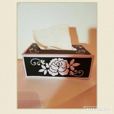 3D FLOWER RECTANGLE TISSUE BOX