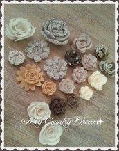 Set di rose beige/marrone