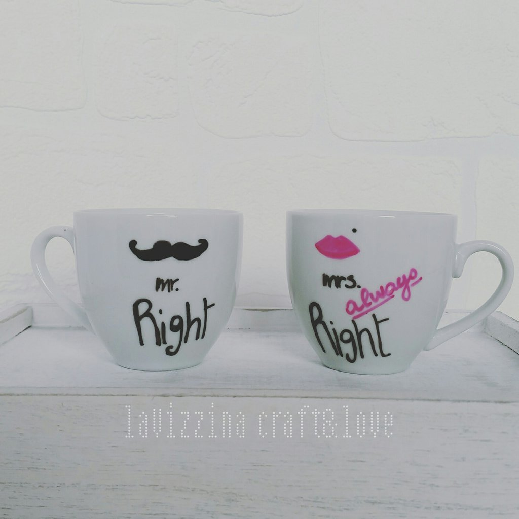 Coppia di tazzine da caffè *Marito&Moglie*