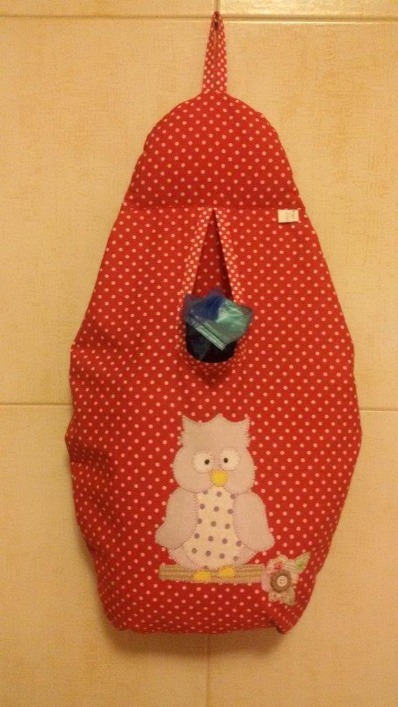 Porta sacchetti rosso pois per la casa e per te cucina - Porta sacchetti ...