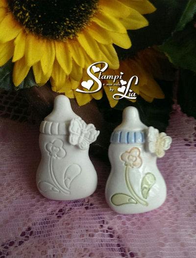 Stampo  *Biberon con piccola farfalla*