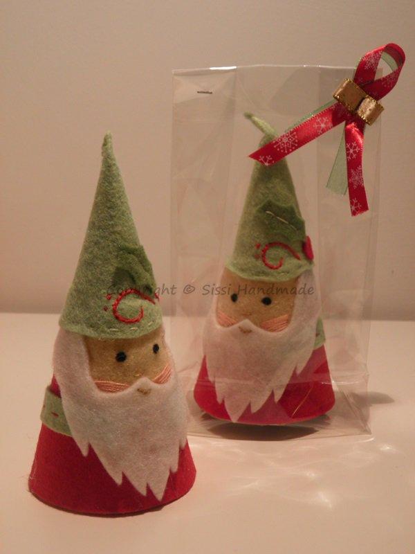 Babbo Natale, folletto segnaposto (6 pezzi)
