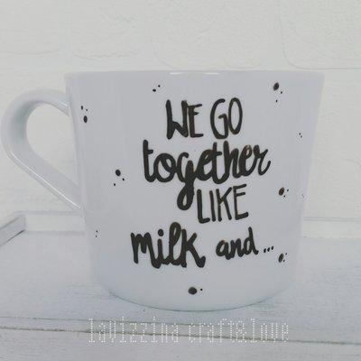 "Tazza dipinta a mano ""Latte e.."""