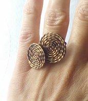 Anello Regolabile in Rame - Spiral