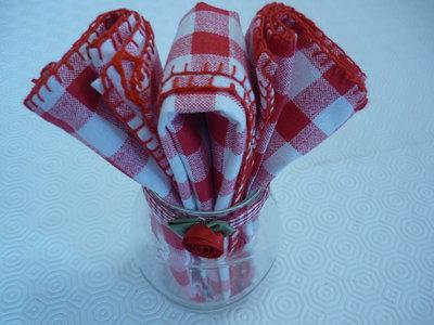 Novita'-Vasetto in vetro contenente canovaccio realizzato a mano
