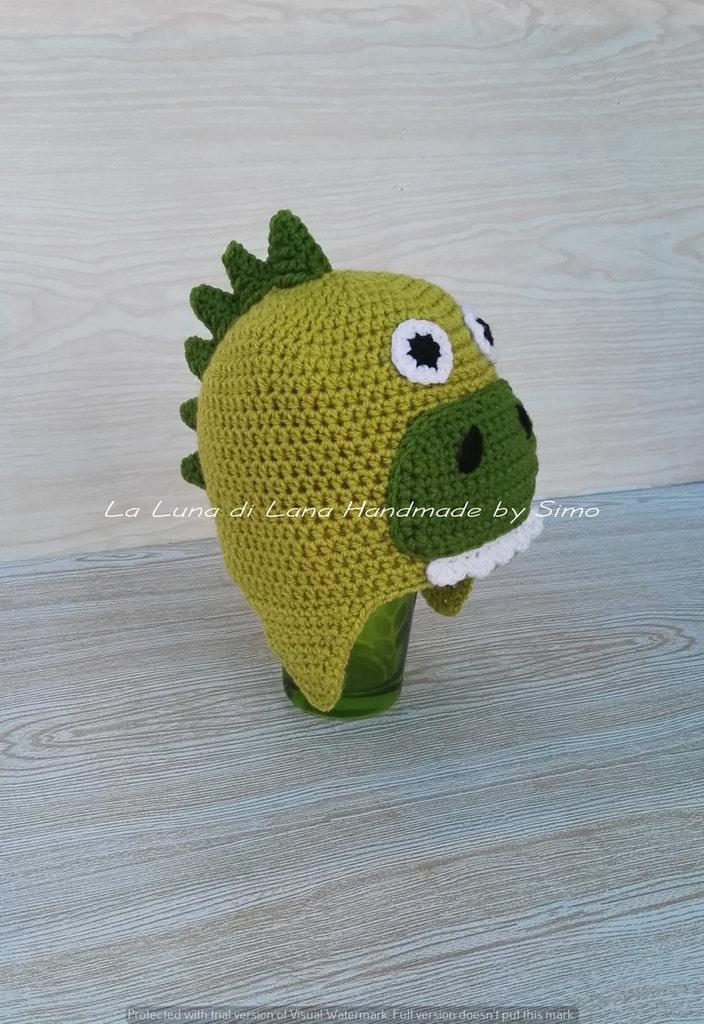 Cappello per bambino o neonato a forma di dinosauro
