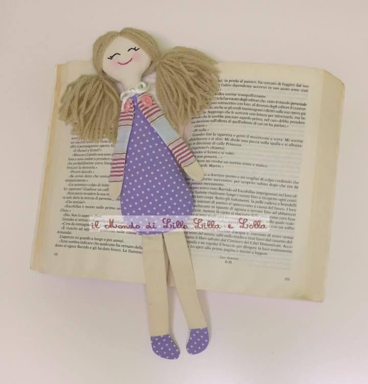 bambolina segnalibro viola