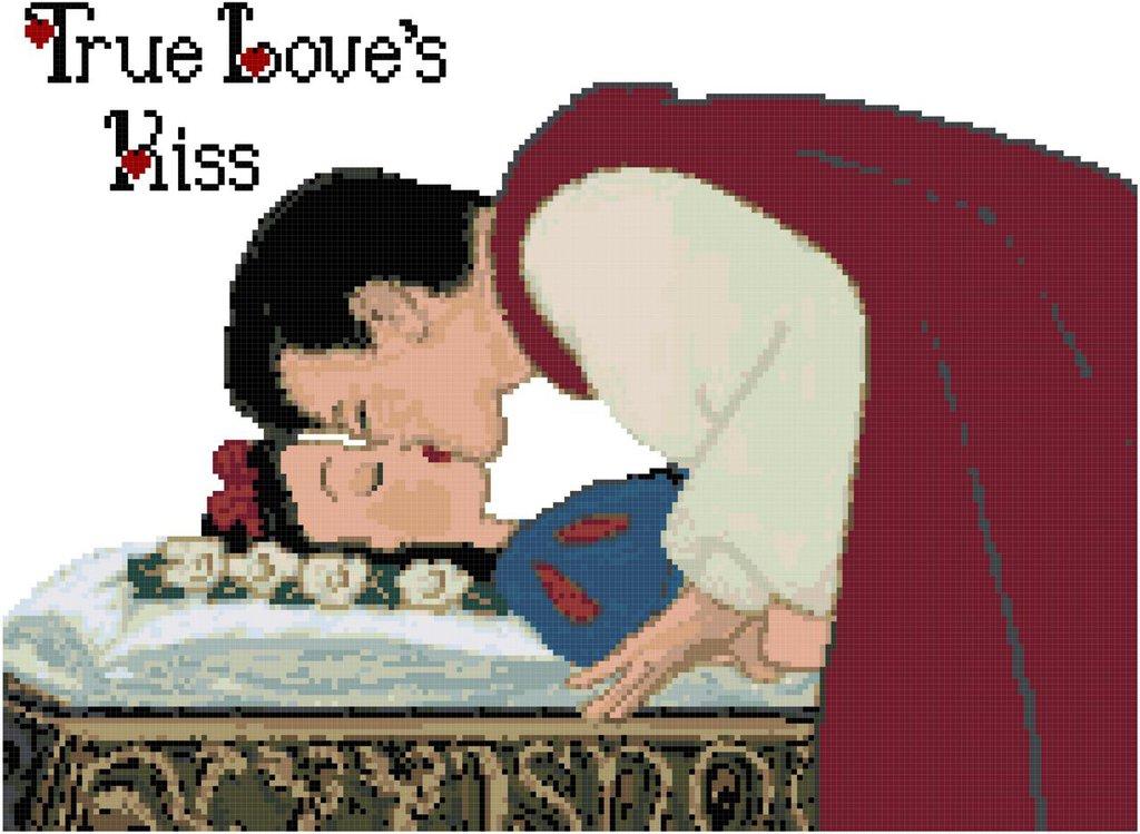 Bacio del vero Amore - Schema Punto Croce