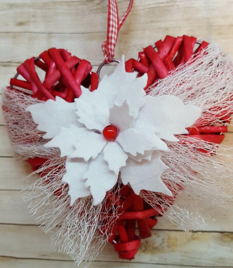 Cuore natalizio rosso