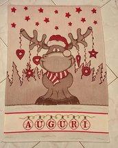 Asciugapiatti natalizio punto croce