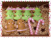"Set decorazioni natalizie in pannolenci ""Candy World"""