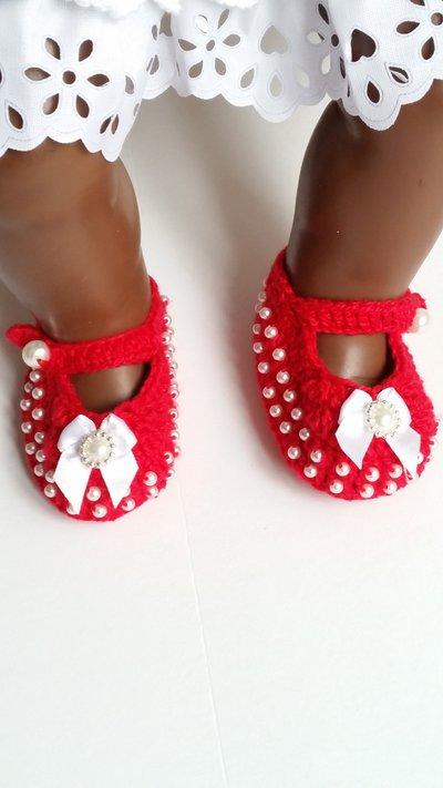 scarpine gioiello neonata rosso