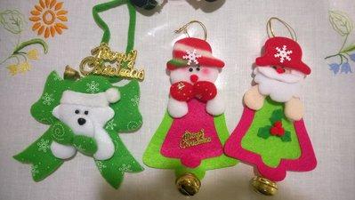 pupazzi natalizi in feltro