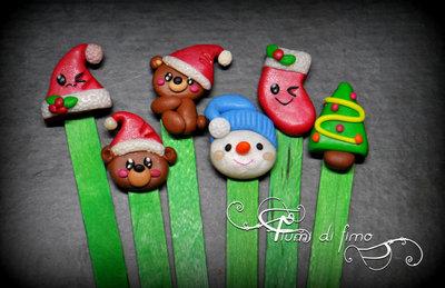 segnalibro fimo| segnalibri natalizi| orsetti fimo| decori natalizi fimo| idee regalo natale| idee regalo fimo| accessori fimo| decori natalizi| segnaposto natale| segnaposto fimo