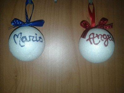 Palle di Natale glitter