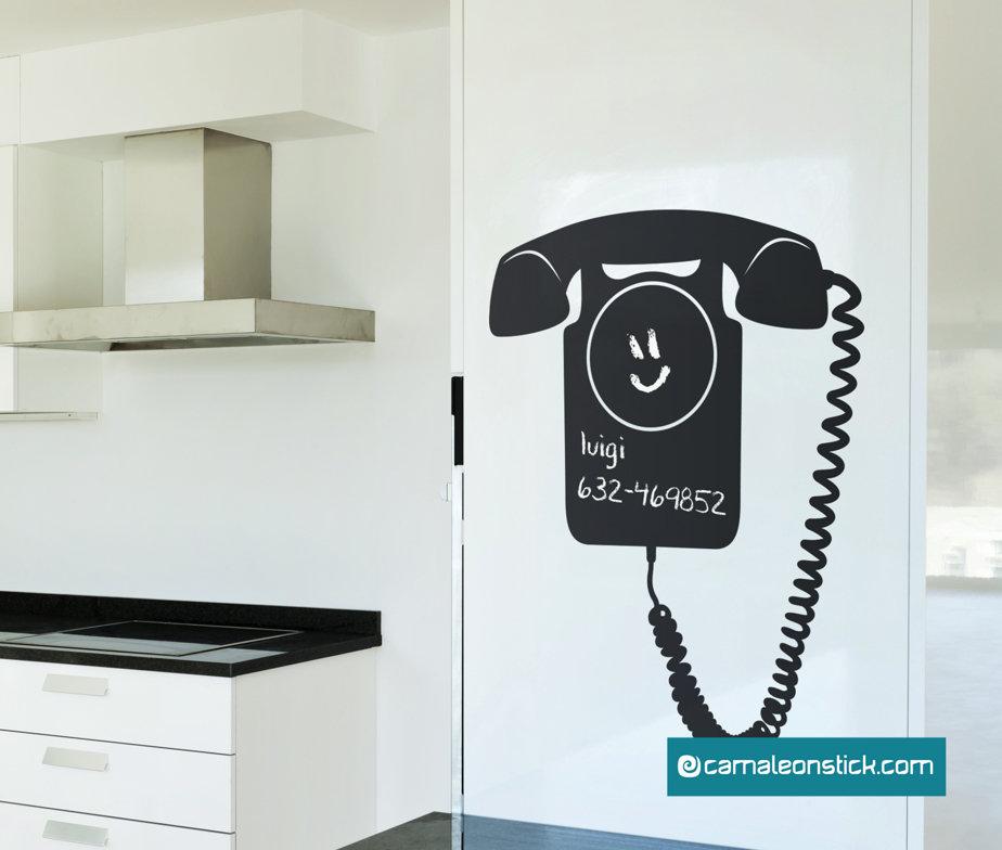 Lavagna adesiva telefono - adesivo murale promemoria numeri telefonici - lavagna da parete appunti
