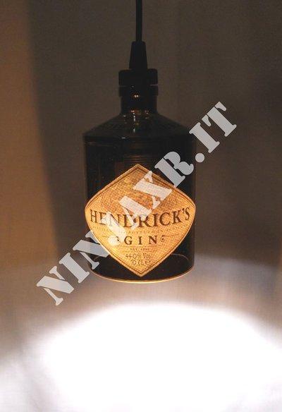 lampadario riciclo : Lampadario lampada a sospensione da Bottiglia di Gin Hendricks ric ...
