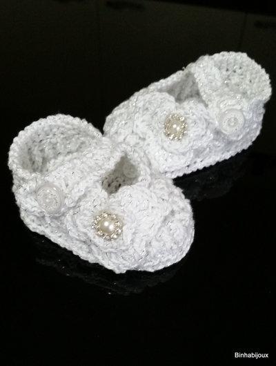 scarpina battesimo neonata