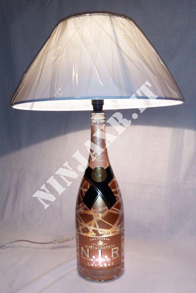 Lampada da tavolo Bottiglia Champagne Moet & Chandon NIR Magnum Luminous Nectar Imperial Rosé