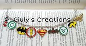 Bracciale Harley Quinn Batman green lantern wonder woman flash comics fumetti DC